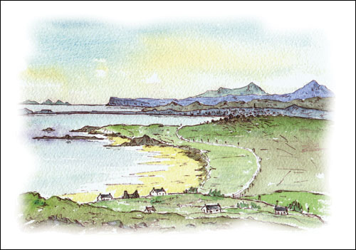 View of Coll and Broad Bay