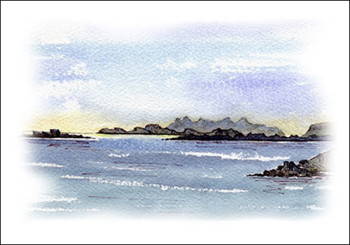 Sma\' Isles from Ardnamurchan