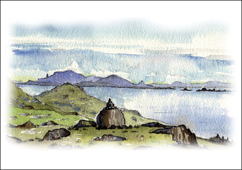 North Skye from Shiant Isles