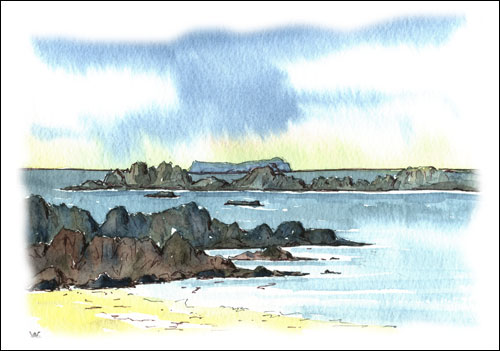 Isle of Staffa from Iona