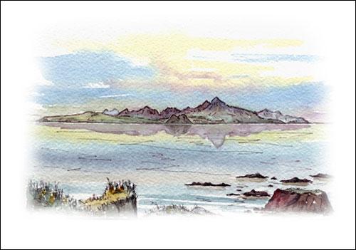 Isle of Arran from Culzean Bay