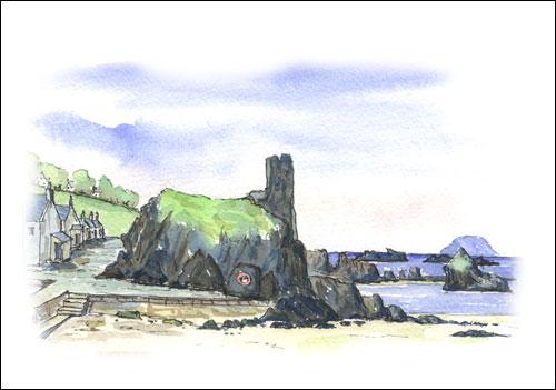Dunure Castle, South Ayrshire Coast