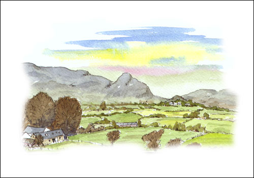 View of Campsie Fells from near Killearn, Stirlingshire