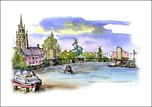 River Thames at Marlow, Buckinghamshire