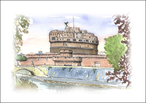 Castel Sant\'Angelo from Lungotavere, Rome #1