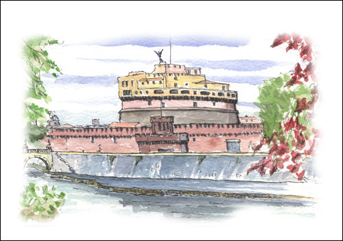 Castel Sant\'Angelo from Lungotevere, Rome #2