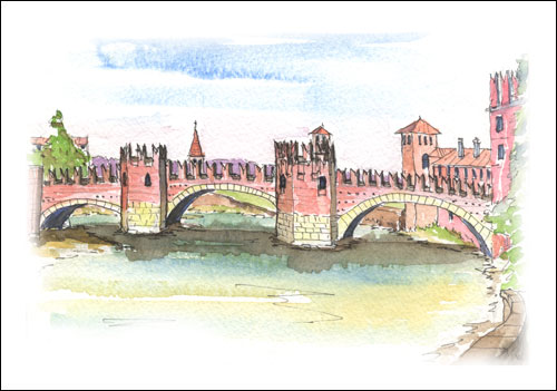 Roman Bridge Verona, Italy