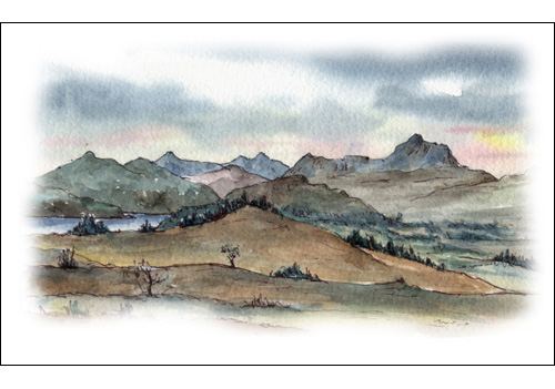Ben Lomond from the Whangie (The Devil\'s Tail), Queens View, Stirlingshire