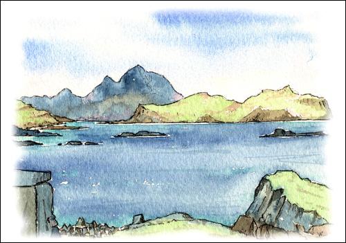 Ben More, Little Colonsay from Lunga, Treshnish Isles