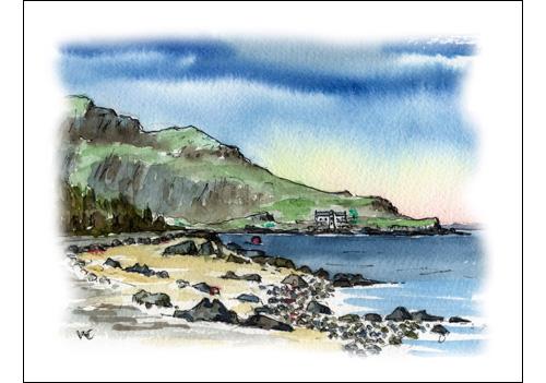 Holy Isle from Kings Cross, Isle of Arran