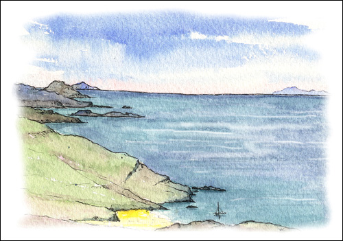Outer Hebrides and The Minch from Mingulay