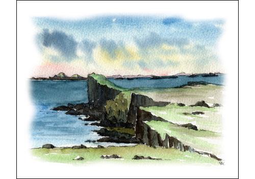 Treshnish Isles from Staffa