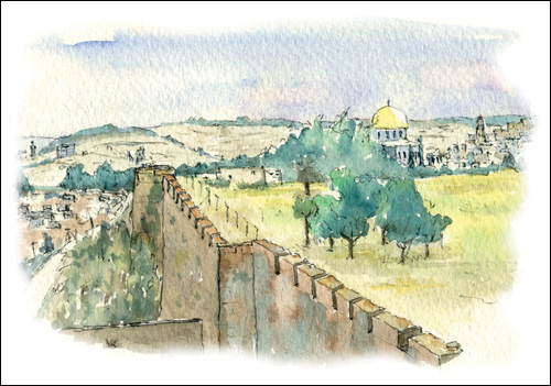 View of the Temple Mount, Jerusalem
