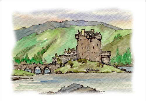 Eilann Donan Castle and Loch Duich