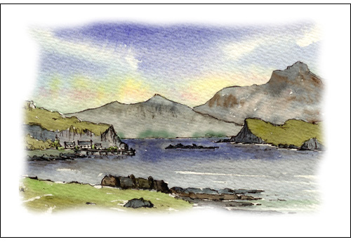 Rhum from Canna Harbour, The Sma Isles